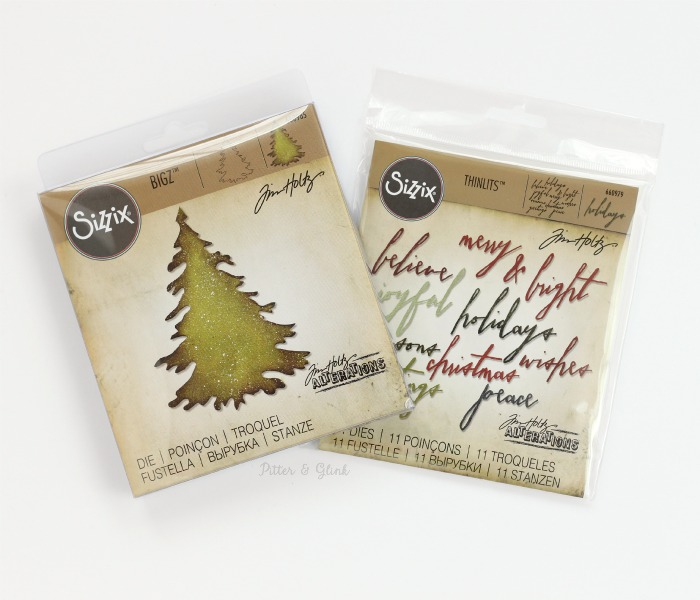 Sizzix Evergreen Bigz Die and Sizzix Handwritten Holidays Thinlits Dies. www.pitterandglink.com