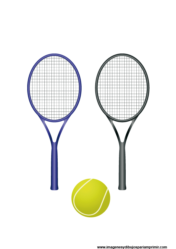 cartoon pictures of tennis rackets and ball