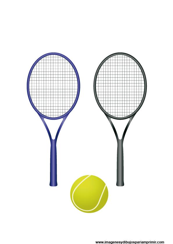 imagenes de dibujos de raquetas de tenis y su pelota
