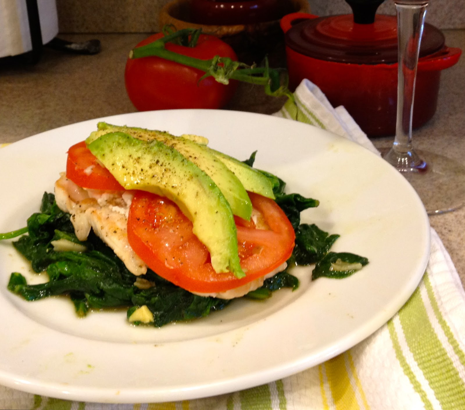 Margie O'Hara - A Creative Life: Chicken over Spinach with ...