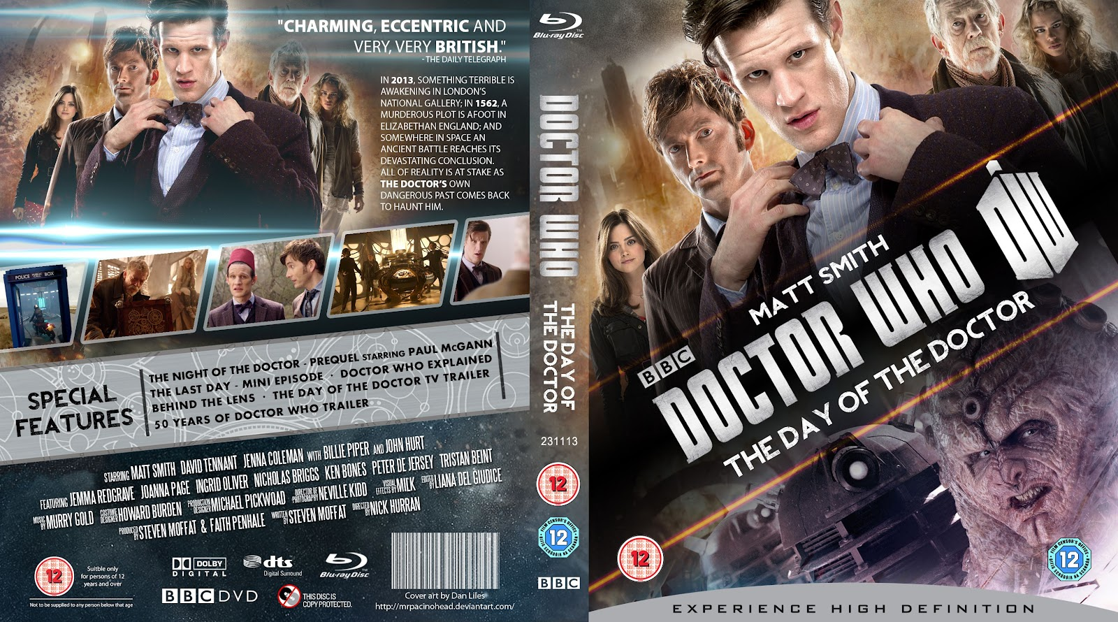 Capa Bluray Doctor Who The Day Of The Doctor