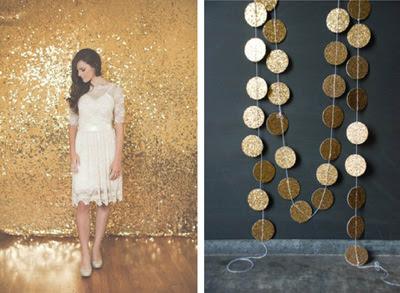 glitter wedding - wesele w złocie dekoracja