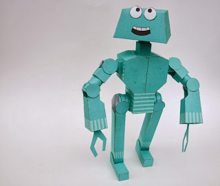 Poseable Robot Paper Toy Papercraft