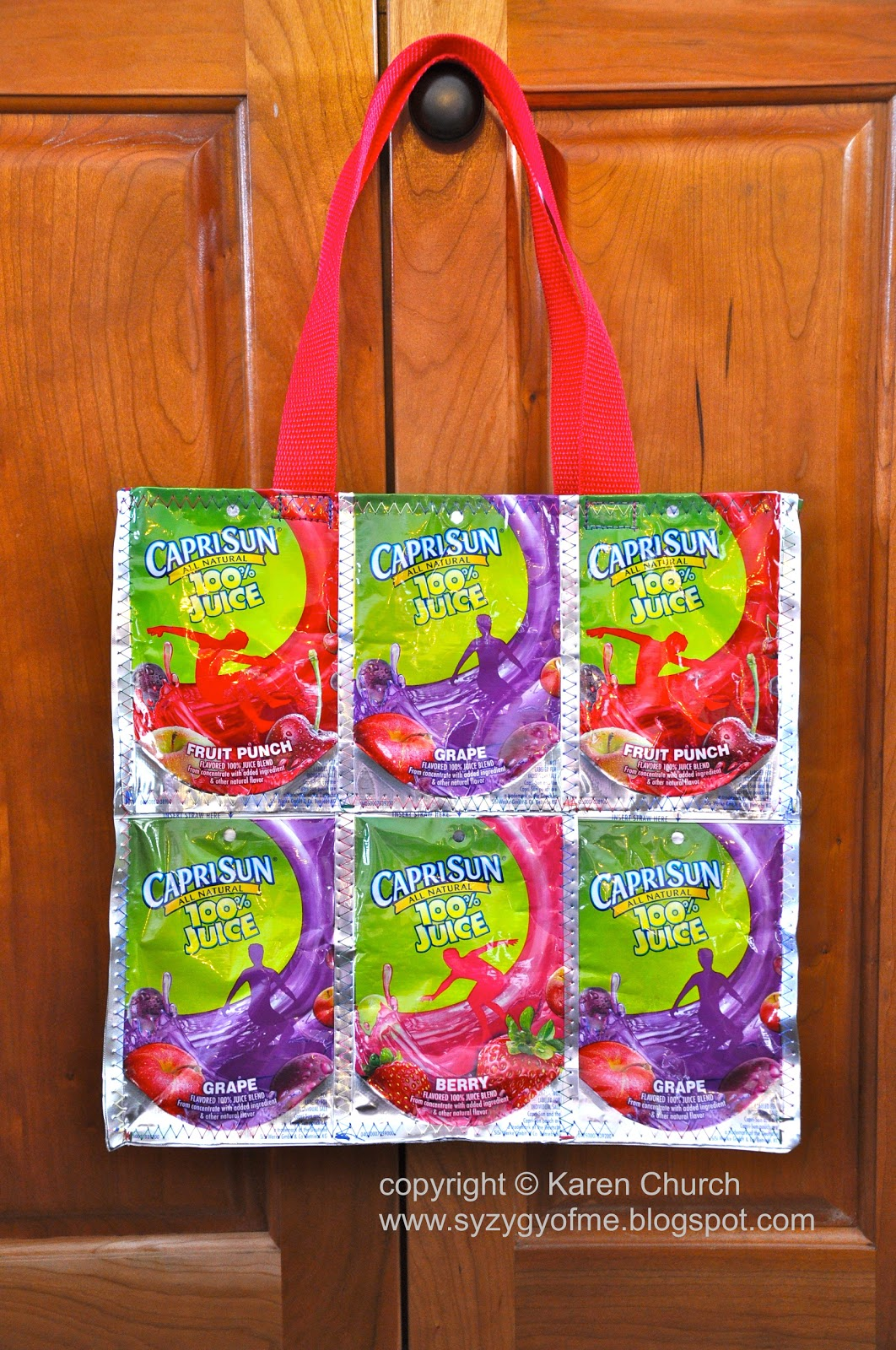 Syzygy of me recycled juice pouch tote bag and mini tutorial i seized the opportunity and collected all the empty pouches i had just enough to make a little tote bag baditri Image collections