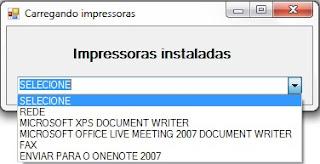 Componentes, Impressoras, VB.NET,  NameSpace, Dicas, Programação Vb.Net, Visual Basic,