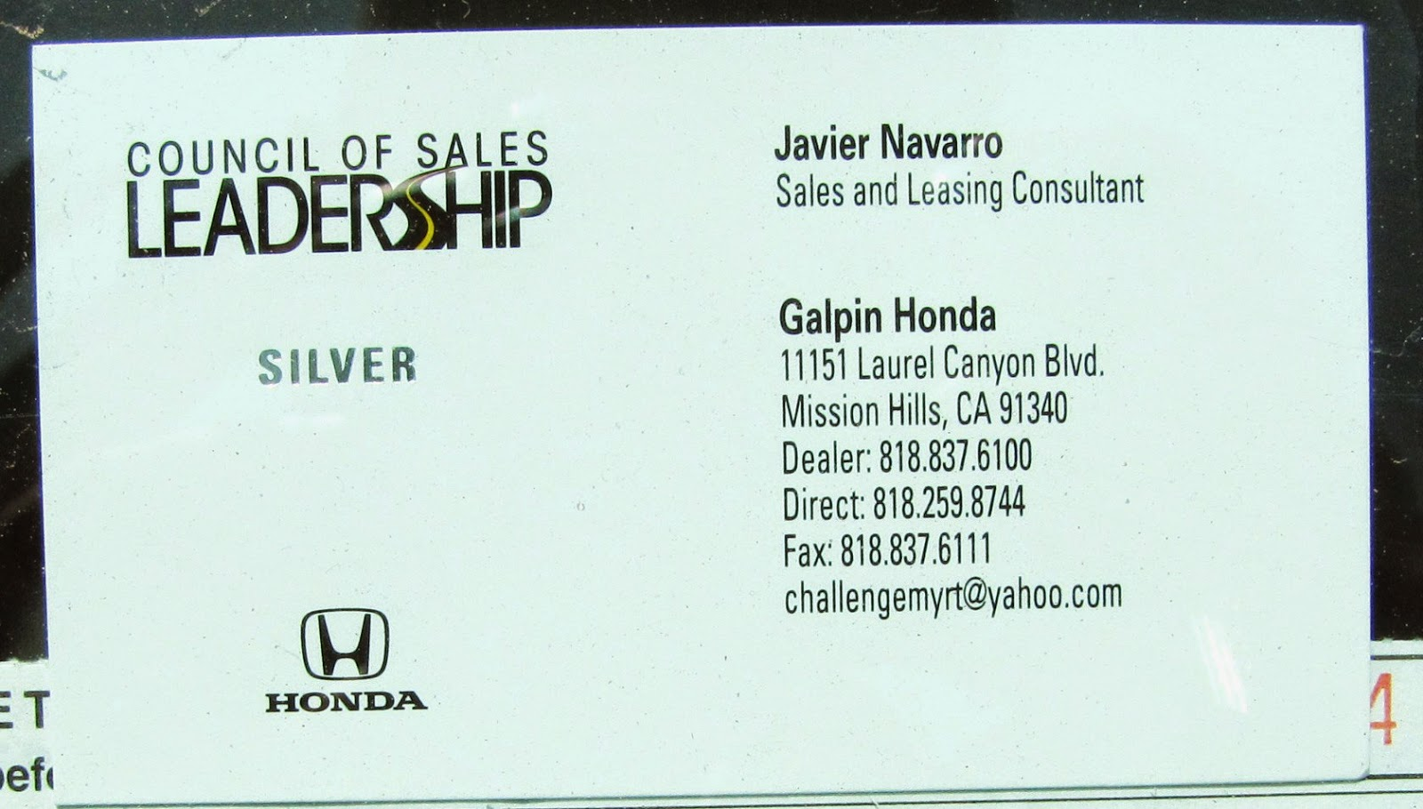 Galpin Honda Mission Hills Selvin Paris Beinspired No I39m Not Lucky I39m Blessed