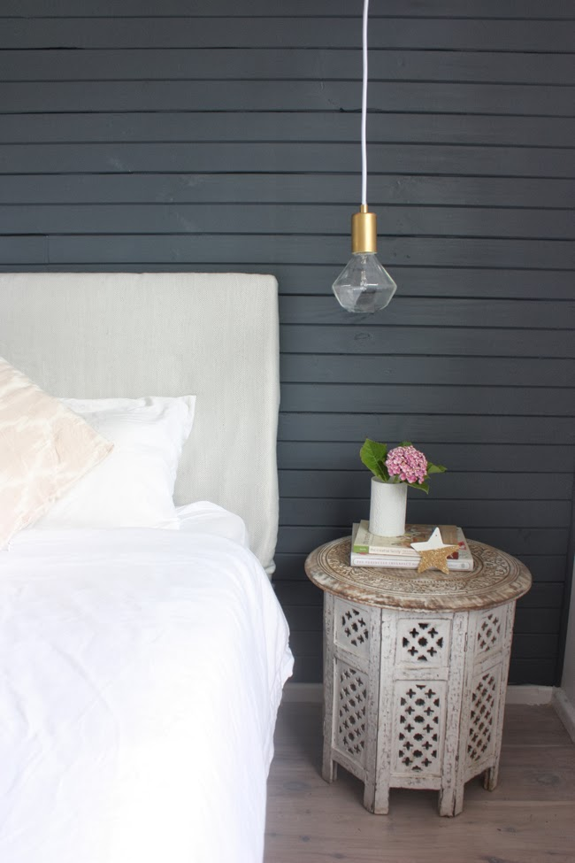 Feature Wall Light Grey : The Happy Home: finally! our master bedroom