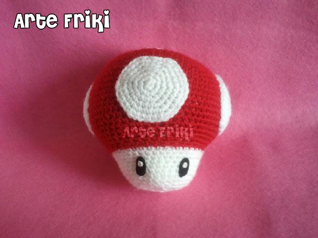 seta mario bros mushroom amigurumi crochet ganchillo peluche muñeco