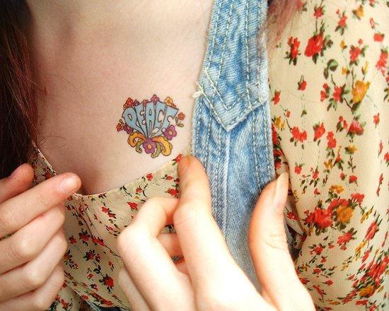 25 designs hippie tattoos