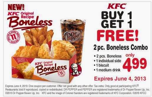 Free printable kfc coupons online