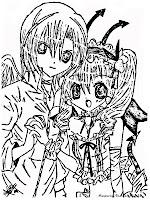 Mewarnai Gambar Kamichama Karin Dan Kazune