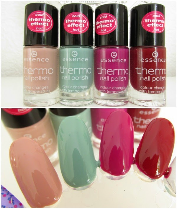 essence Thermo Effect Nail Polish  01 warm my heart, 02 play it cool, 03 it´s hot stuff, 04 the heat is on Neuheiten Herbst 2014