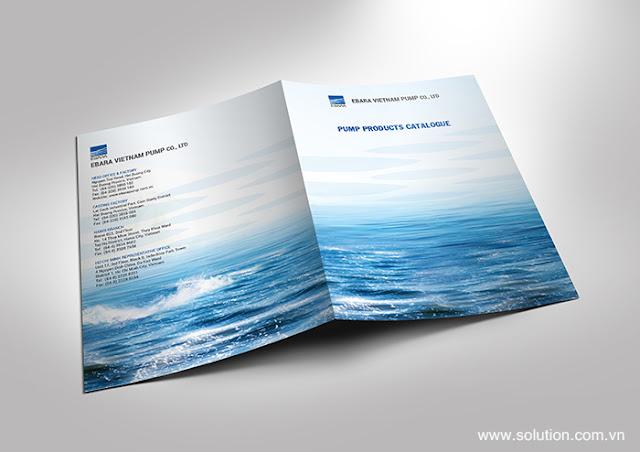 Mẫu thiết kế catalogue công ty ebara
