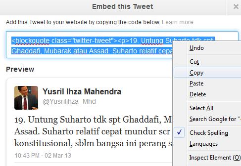 embed tweets 2