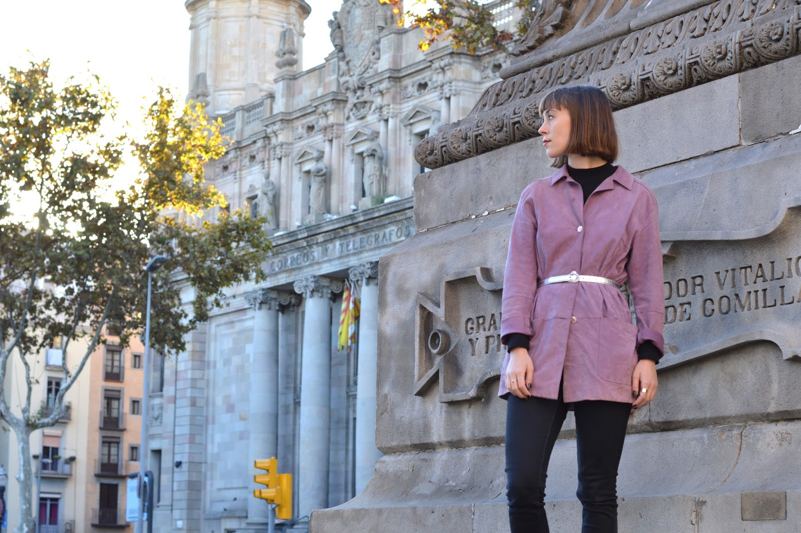 How to style a purple suede shirt for AW15
