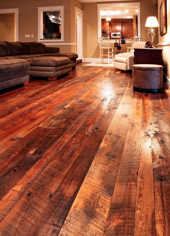 Rustic ventures barn wood from the farm to your home for Rustic flooring ideas