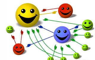 pagerank en image avec des petits smileys explicatif