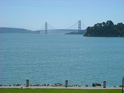 Vistas del Golden Gate desde Tiburón.