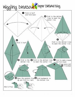 Dinosaur Origami Diagram