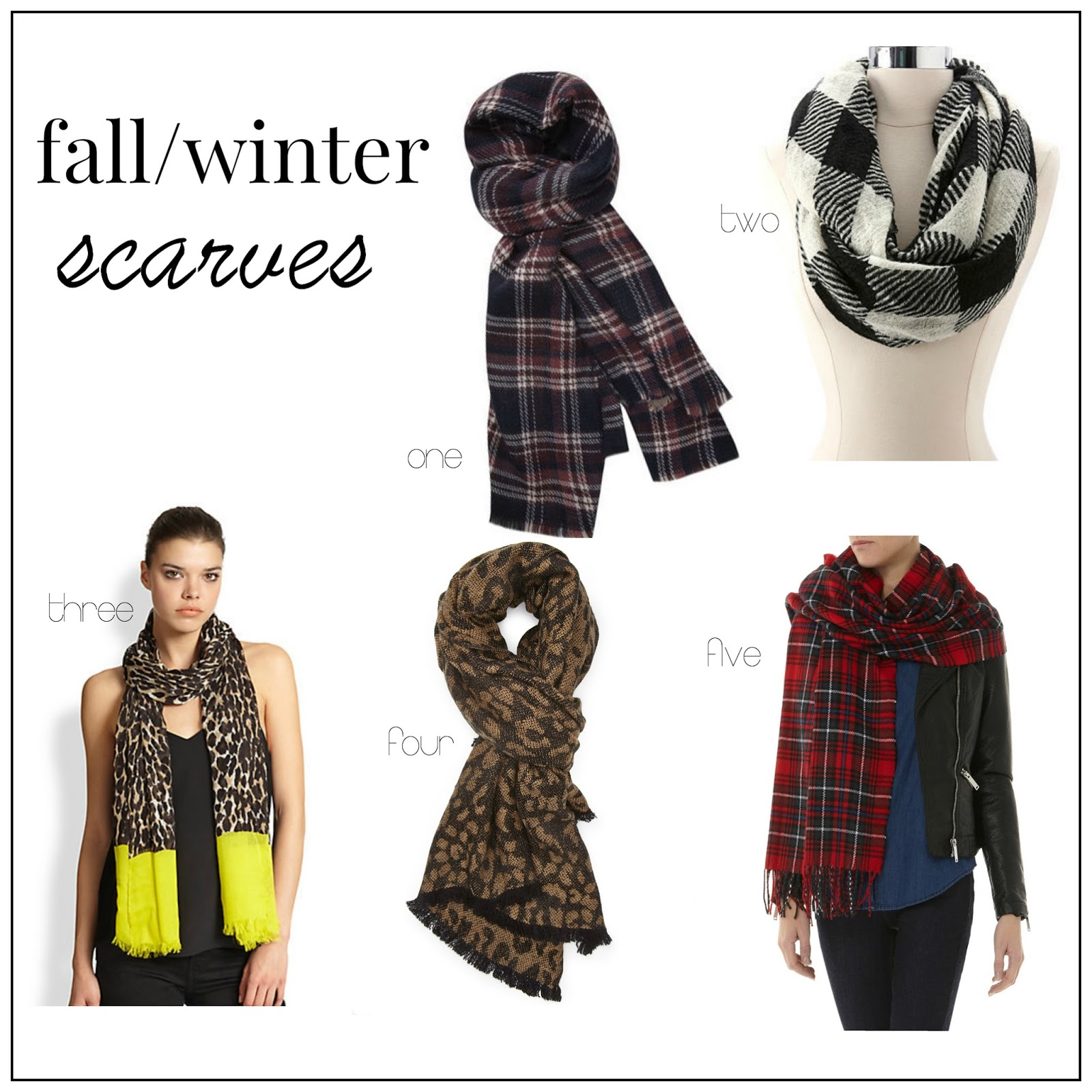popular fall and winter scarves