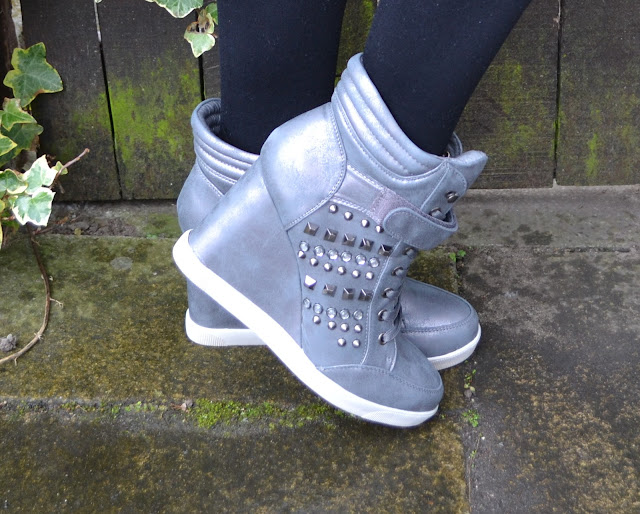 A picture of Barratts high top wedge trainers