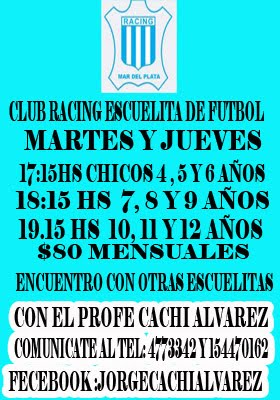 ESCUELA DE FÚTBOL CLUB RACING