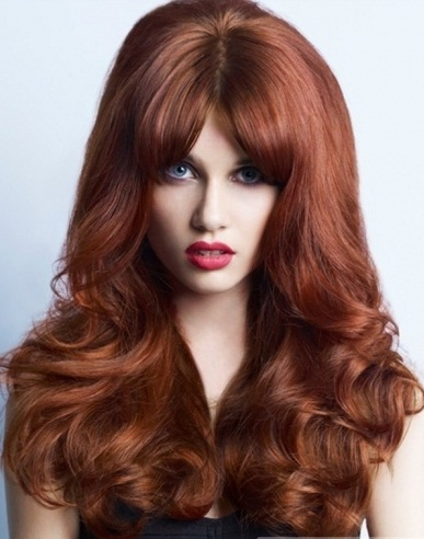 Long Red Big Hair Style 2014