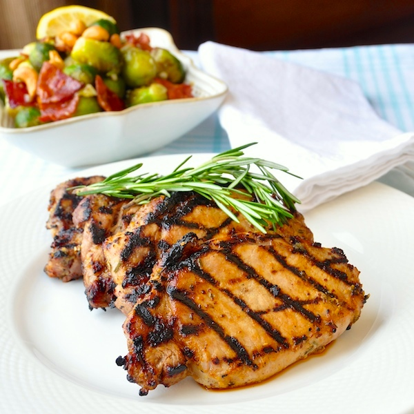 Rosemary Dijon Grilled Pork Chops or Chicken