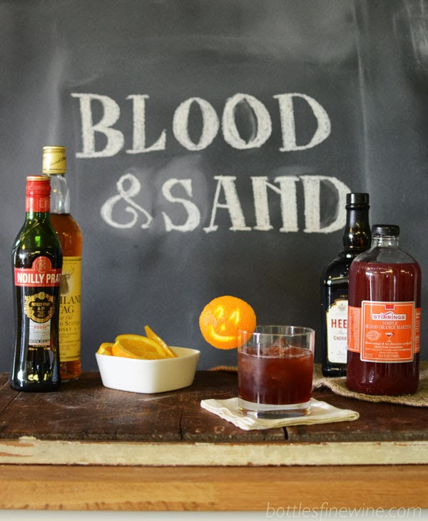 Halloween Cocktail Recipe Idea - Blood and Sand