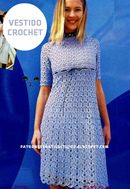 Un vestido al crochet para nosotras | Crochet y Dos agujas ...