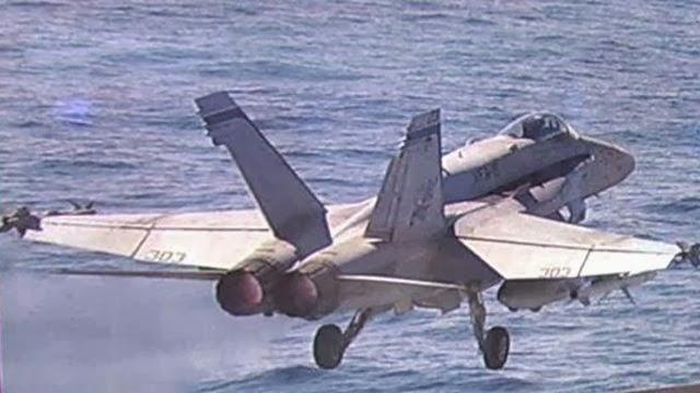 Pesawat Tempur F-18 AS Jatuh di Lepas Pantai Virginia