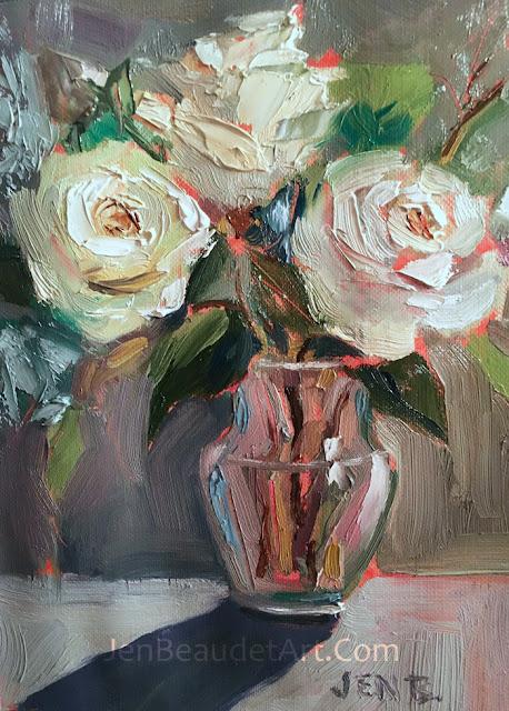 Jen beaudet art three white roses three white roses mightylinksfo