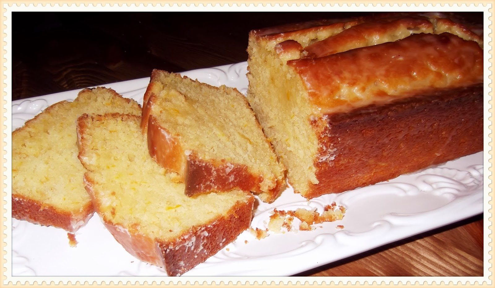 Rosie's Country Baking: Glazed Orange Pound Cake