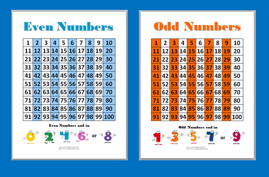 Odds And Evens Chart Odd And Even Math Worksheets