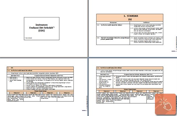 Instrumen EDS (Evaluasi Diri Sekolah) SMP MTs