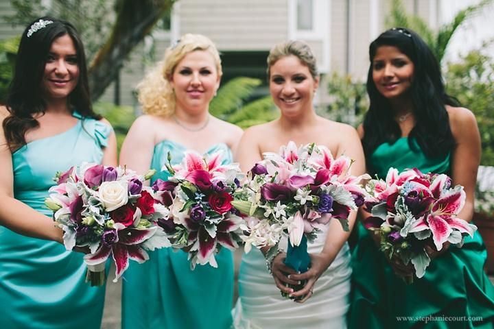 """""""bright floral wedding flowers for beach wedding half moon bay"""""""