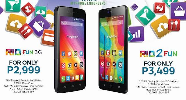 MyPhone Rio 2 Fun and MyPhone Rio Fun 3G