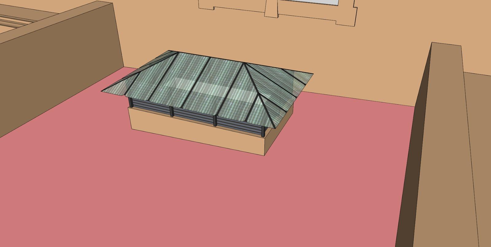 Puertas Para Baño Sketchup:Claraboya del baño que se vio previamente
