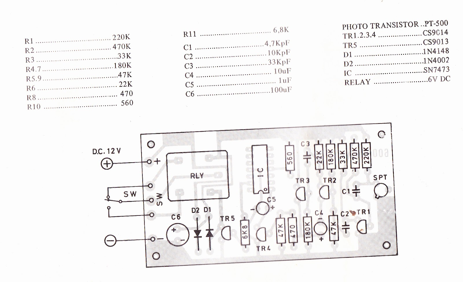 Infra Red Remote Control 03 Pesawat Kontrol Lay Out Pcb Receiver