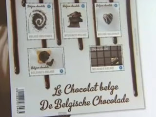 Belgica: Servicio postal 'gourmet': estampillas con sabor y aroma a chocolate