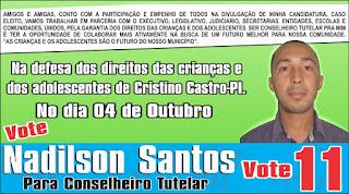 Votem 11, Nadilson Santos Conselheiro Tutelar