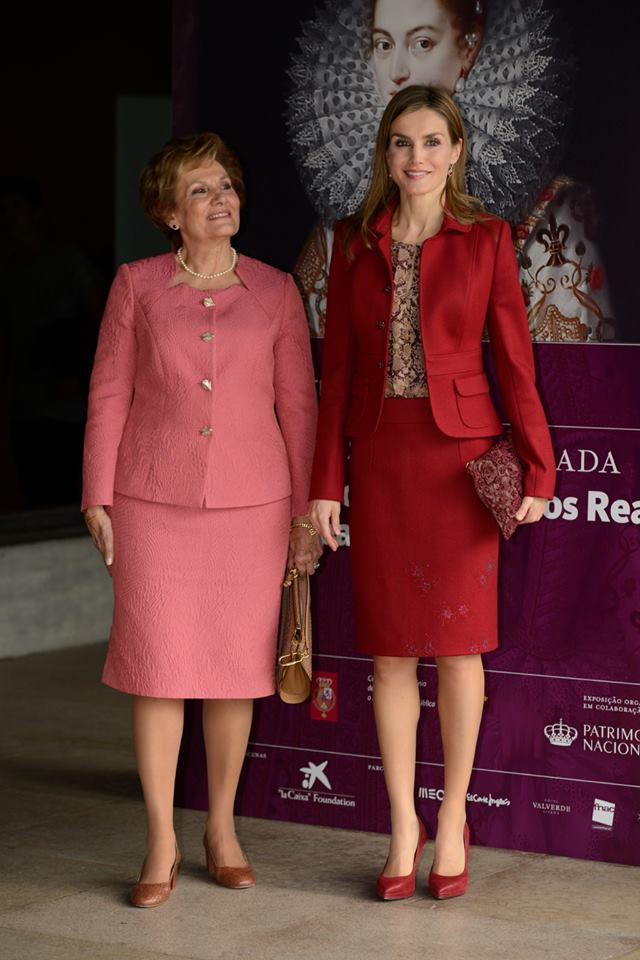Queen Letizia of Spain attends the closing ceremony of the 2nd Ibero American Meeting