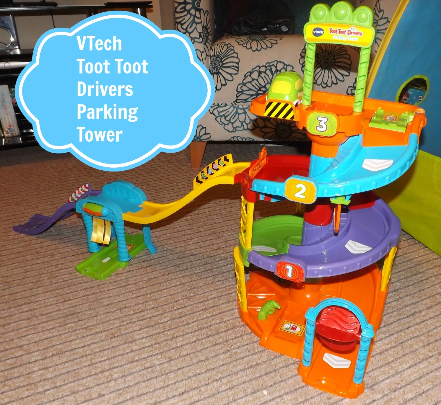 V Tech Toot Toot Drivers Parking Tower Review Sparkles