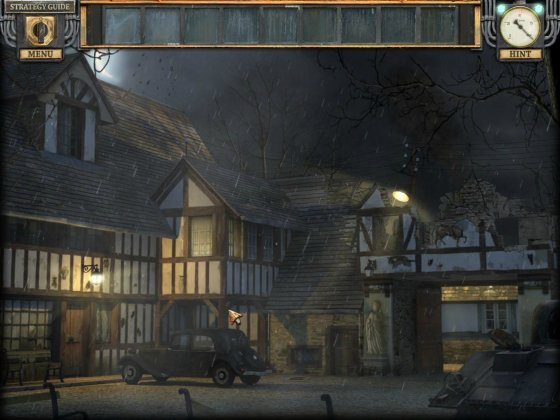 Silent Nights: The Pianist Collector's Edition. Screenshot of the nasty night rain.