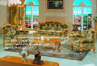 sofa klasik jepara jual mebel jepara Mebel furniture klasik jepara jual set sofa tamu ukir sofa tamu jati sofa tamu antik sofa jepara sofa tamu duco jepara furniture jati klasik jepara SFTM-33051 sofa tamu klasik Racoco classic mewah