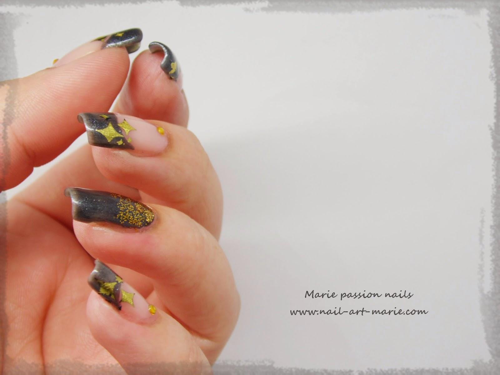 nail art stamping au foil6