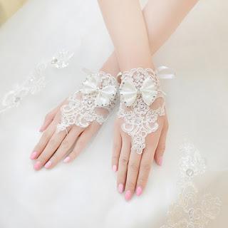 Elegant Gloves Wedding Bridal Gloves Full Finger Fingerless Gloves Rhinestone