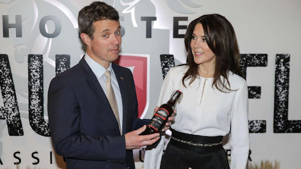 Crown Prince Frederik and Crown Princess Mary of Denmark visited Holsten Brewery in Hamburg