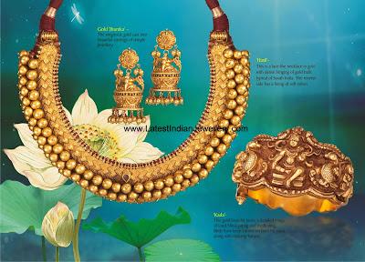 Gold Jhumki Hasli Kada Set