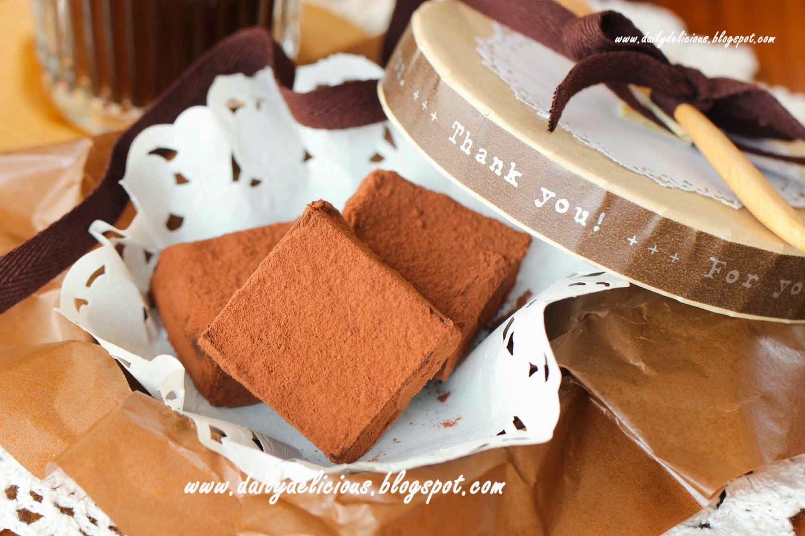 dailydelicious: Hazelnut Nama Chocolate (ヘーゼルナッツ生チョコ ...